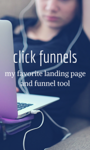 Click Funnels is my favorite landing page and funnel tool.