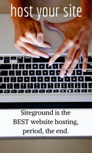 Siteground is the best place to host your website