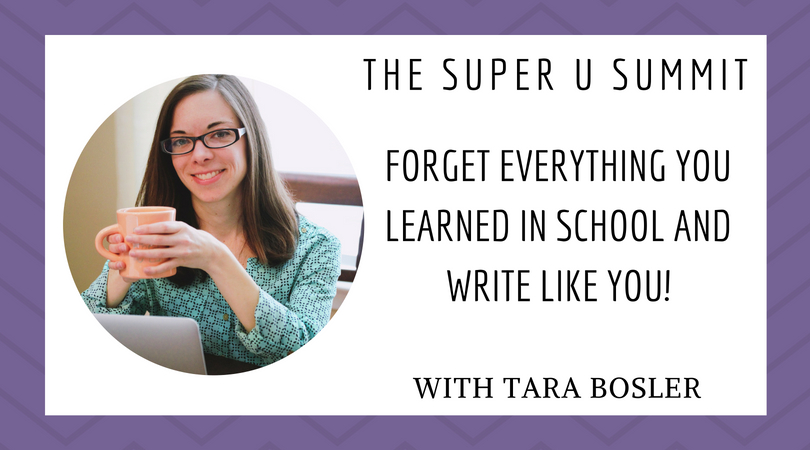 Write like you Tara Bosler copy genius