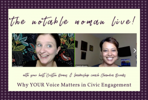 Why Your Voice Matters in Civic Engagement with Chandra Brooks on The Notable Woman Live