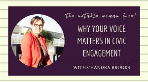 chandra brooks your voice matters in civic engagement