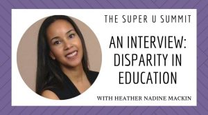 An Interview: Disparity in Education