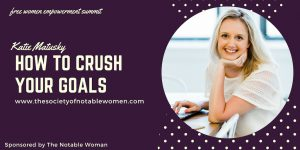 Katie Matusky in The Notable Woman Super U Summit