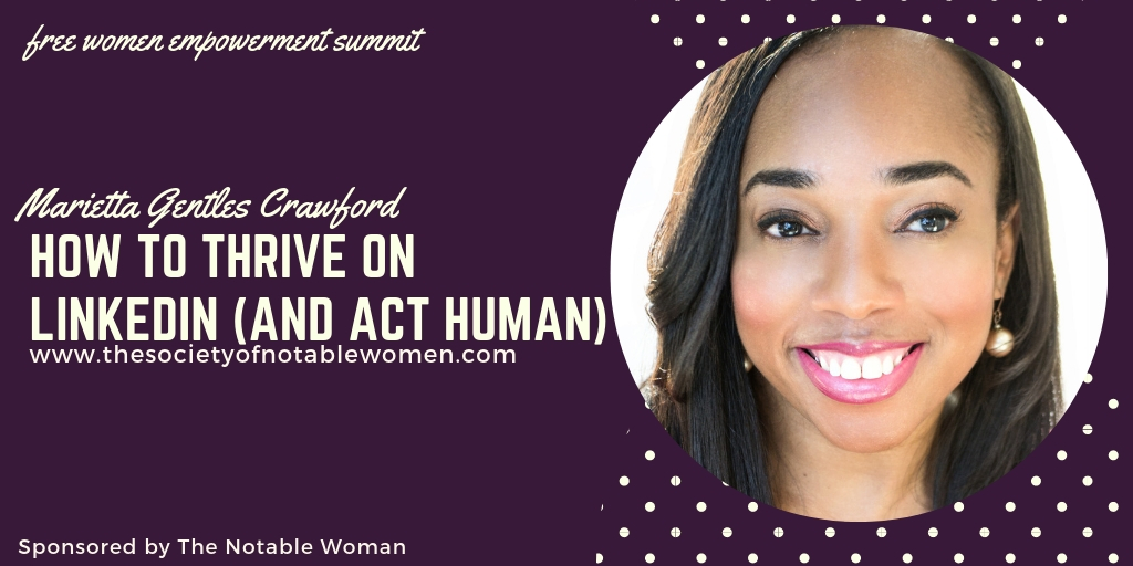 Marietta Gentles Crawford at The Notable Woman Super U Summit