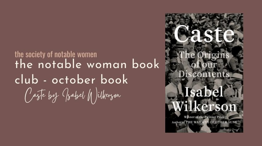 October Book Club Selection: Caste by Isabel Wilkerson